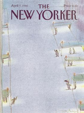 The New Yorker Cover - April 7, 1986 by Eugène Mihaesco