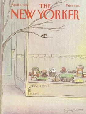 The New Yorker Cover - April 9, 1984 by Eugène Mihaesco