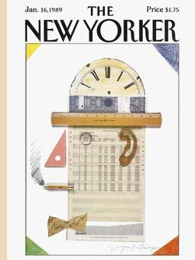 The New Yorker Cover - January 16, 1989 by Eugène Mihaesco