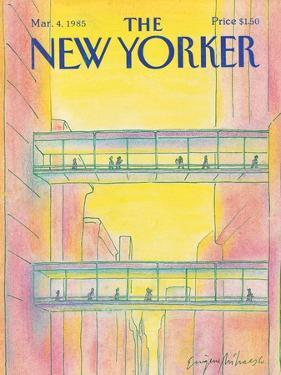The New Yorker Cover - March 4, 1985 by Eugène Mihaesco