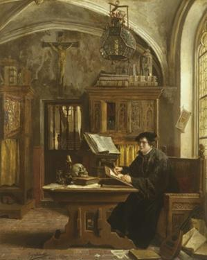 Martin Luther Translating the Bible, Wartburg Castle, 1521 by Eugene Siberdt