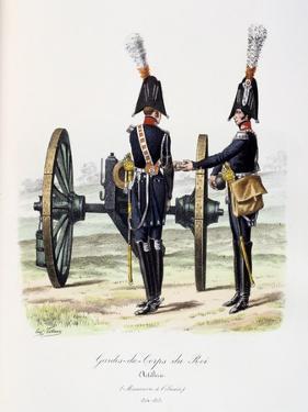 Gardes-Du-Corps De Roi, Artillery, 1814-15 by Eugene Titeux