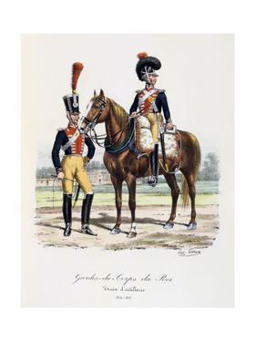 Gardes-Du-Corps De Roi, Artillery Train, 1814-15 by Eugene Titeux