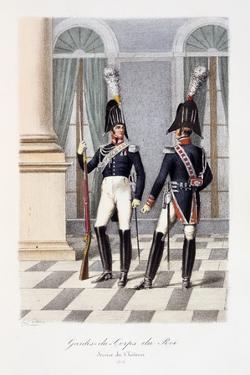 Gardes-Du-Corps De Roi, Service De Chateau, 1814 by Eugene Titeux