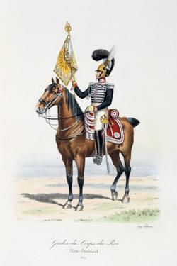 Gardes-Du-Corps De Roi, Standard Bearer, 1820 by Eugene Titeux