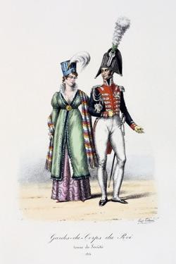 Gardes-Du-Corps De Roi, Tenue De Socièté, 1814 by Eugene Titeux
