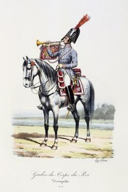 Gardes-Du-Corps De Roi, Trumpeter, 1814 by Eugene Titeux