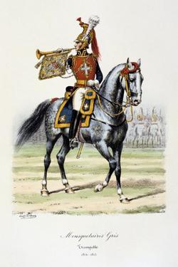 Mousquetaires Gris, Trumpeter, 1814-15 by Eugene Titeux