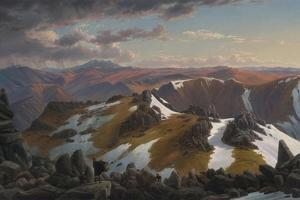 North-East View from the Northern Top of Mount Kosciusko, 1863 by Eugene Von Guerard