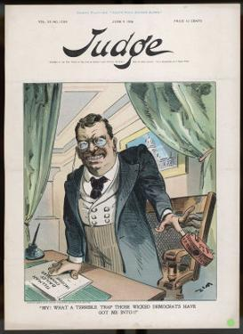Theodore Roosevelt 26th American President Contemptuous of Democrat Attacks by Eugene Zimmerman
