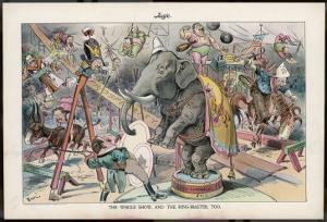 Theodore Roosevelt 26th American President Depicted as a Circus Ringmaster by Eugene Zimmerman