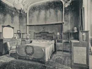 'Bedroom with Furniture in Walnut and Citron Wood', 1915 by Eugenio Quarti