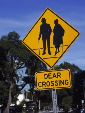 Dear Crossing' Sign, Mature Adults, Orlando, FL by Eunice Harris