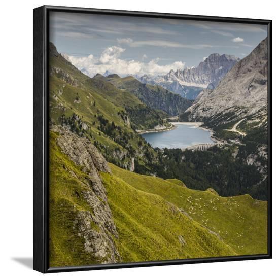 Europe, Italy, Alps, Dolomites, Mountains, Marmolada - Fedaia Lake-Mikolaj Gospodarek-Framed Photographic Print
