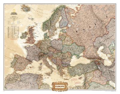 Map Of Europe For Sale.Affordable Maps Of Europe Natl Geo Posters For Sale At