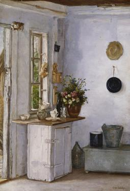 A Kitchen Interior by European School (Early 20th Century)