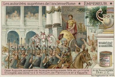 Emperor, Caesar Augustus by European School
