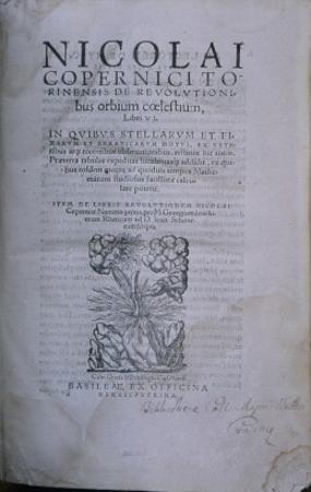 Frontispiece from the Second Edition of 'De Revolutionibus Orbium Coelestium' by European School