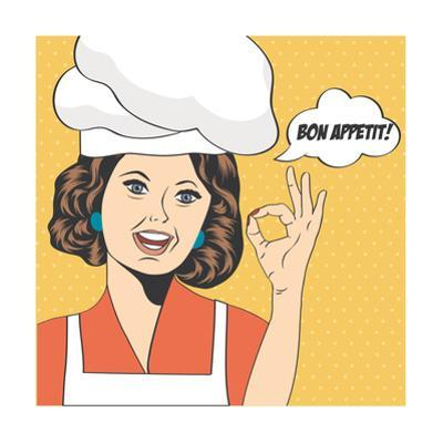 Pop Art Woman Cook by Eva Andreea