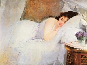 Woman Awakening, 1876 by Eva Gonzales