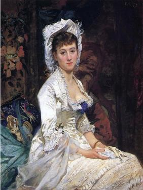 Woman in White, 1879 by Eva Gonzales