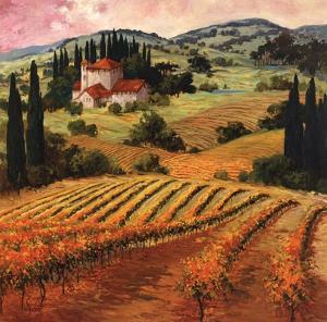 Dawn of a Tuscan Vineyard by Eva Szorc