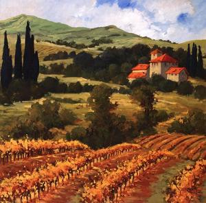 Tuscan Monastery Amidst Autumn by Eva Szorc
