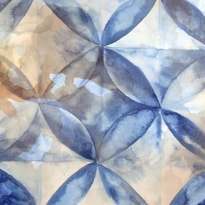 Indigo Rustic Tiles I by Eva Watts