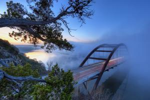 Pennybacker Bridge in Morning Fog by Evan Gearing Photography