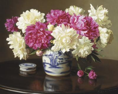 Peonies in Ginger Jar by Evan Wilson