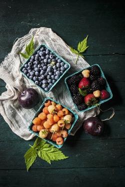 A Variety of Fresh Berries by Evangelia Kosmas