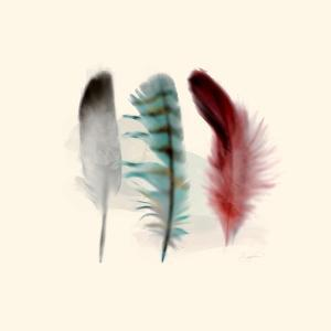 Three Feather Study 1 by Evangeline Taylor