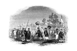 The Annual Spring Festival, 1847 by Evans