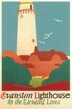 Evanston Lighthouse Poster