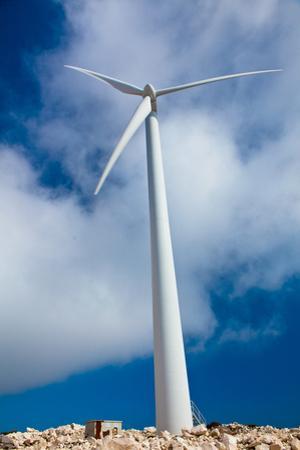 Modern Wind Turbine against Sky by EvanTravels