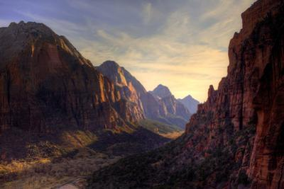 View of Zion Canyon National Park from Angel's Landing Trail by EvanTravels