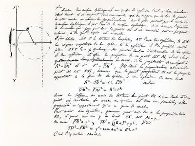 Beginning of Galois's Examination Script for the Concours General, 1829