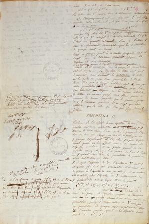 Ms 2108 F.4 Writings on the Conditions for Solving an Equation by Radicals, 1832
