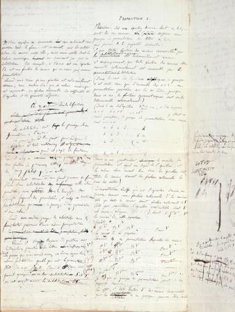 Proposition I, from 'Memoire Sur Les Conditions De Resolubilite Des Equations Par Radicaux', 1732