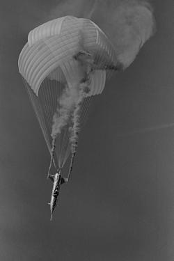 Evel Knievel Flying Rocket with Parachute