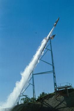 Evel Knievel's Rocket Launching