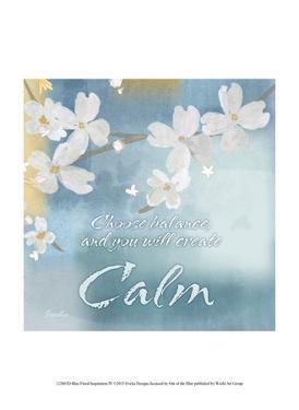 Blue Floral Inspiration IV by Evelia Designs