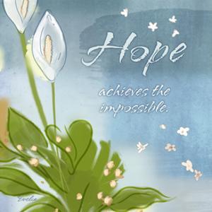 Blue Floral Inspiration IX by Evelia Designs