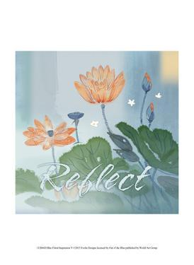 Blue Floral Inspiration V by Evelia Designs