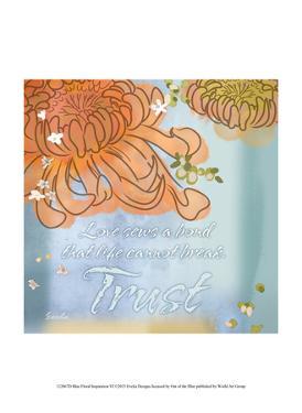 Blue Floral Inspiration VI by Evelia Designs