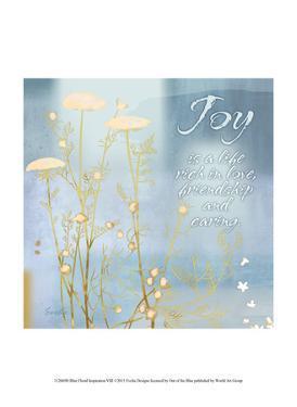 Blue Floral Inspiration VIII by Evelia Designs
