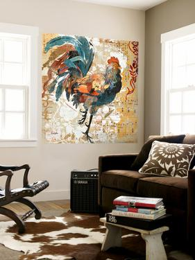 Rooster Flair I by Evelia Designs