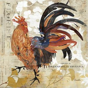 Rooster Flair III by Evelia Designs