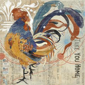 Rooster Flair IV by Evelia Designs