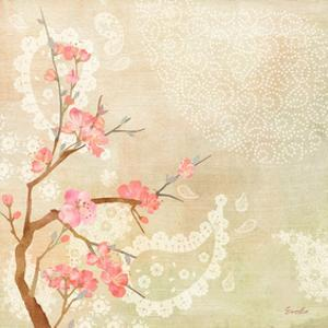 Sweet Cherry Blossoms II by Evelia Designs